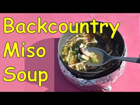 Dehydrated Backcountry Miso Soup