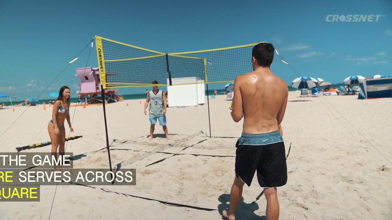 Nieuw in ons spelcircuit: Crossnet-Volleybal.