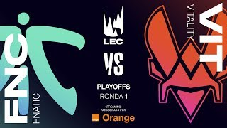 FNATIC VS TEAM VITALITY | MAPA 1 | RONDA 1 PLAYOFFS LEC | Spring Split [2019] League of Legends