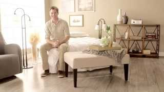 Belham Living Altea Upholstered Coffee Table Bench - Linen Sand - Product Review Video