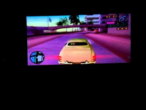 PSP with Acer C20 pico projector 27.5 inch screen - GTA VCS