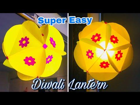 Easy Paper Lantern | Diwali Lantern Making at Home | Diwali Decoration Ideas