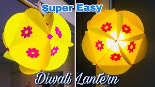 Easy Paper Lantern | Diwali Lantern Making at Home | Diwali Decoration Ideas
