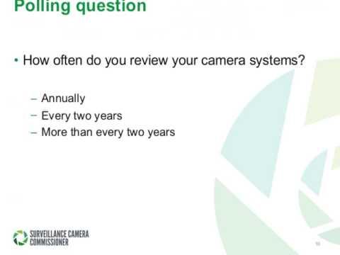 Surveillance Camera Code of Practice – adopting the code