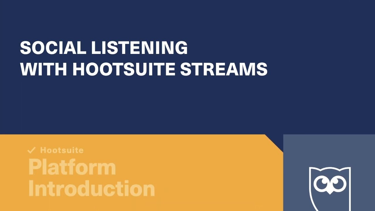 Social Listening with Hootsuite Streams