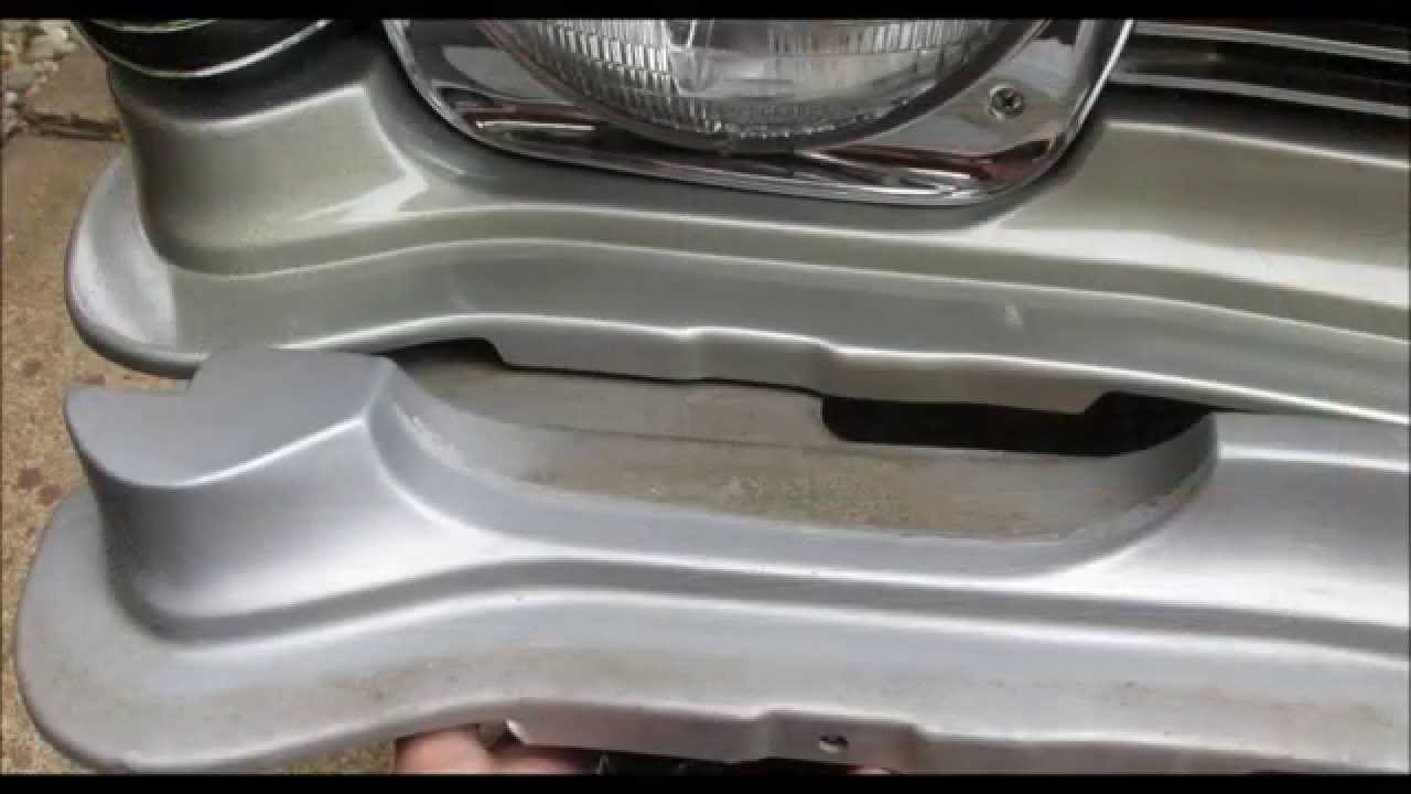 1968 Chevy II Nova Front Grill Filler Panel Replacement  YouTube