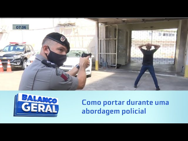Segurança: Cartilha orienta a como portar durante uma abordagem policial