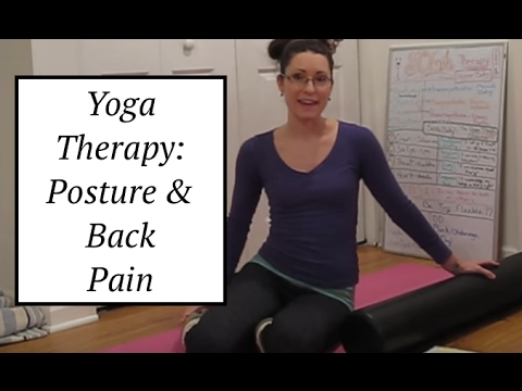 yoga therapy posture  back pain relief on the pilates