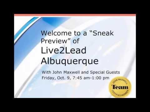 John Maxwell Albuquerque Live2Lead Event Sneak Peak Webinar Oct 9 2015