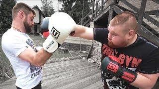 Тренер по боксу учит Дацика вырубать соперников / Трансформация Дацика #6