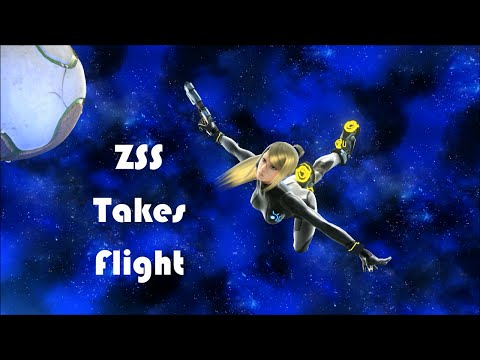 Zero Suit Samus Takes Flight