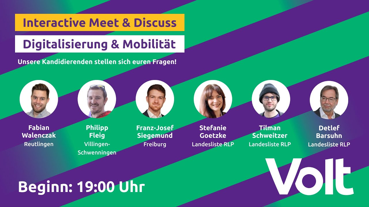 YouTube: Interaktives Meet & Discuss - Digitalisierung & Mobilität