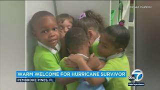 Viral moment: 3-year-old who survived Hurricane Dorian embraced by classmates | ABC7