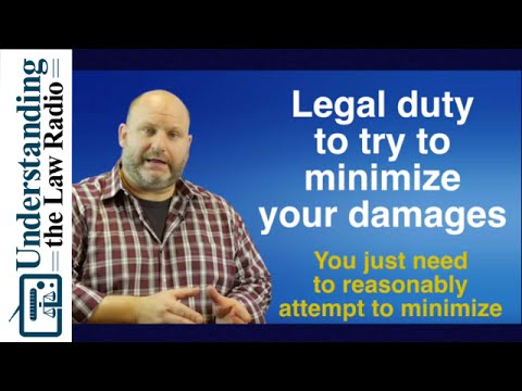 Duty to Mitigate Damages | Legal How To UTLRadio.com