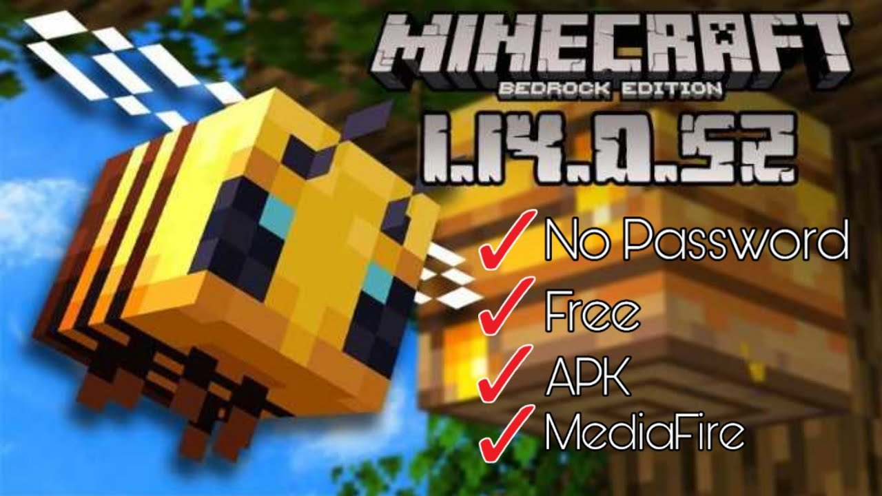 Minecraft Pe 1 14 1 3 Apk Free Download Bee Update Youtube
