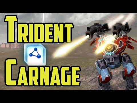 War Robots Maxed Tridents on Carnage - Shielded Long Range Support
