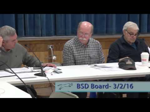 Bennington School Disctrict Board - 3/2/16