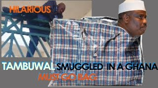 Lawmakers Smuggle Tambuwal Into The National Assembly in a Ghana Must Go Bag