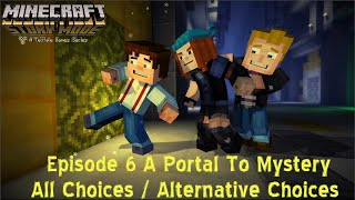 Minecraft Story Mode Episode 6 ALL CHOICES / ALTERNATIVE Choices