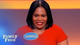 Why is Steve Harvey HOT? Danielle's got NOTHING! | Family Feud