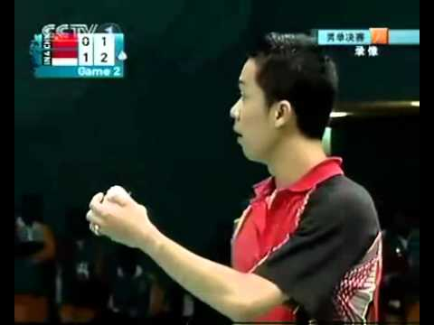 Doha Asian Games Badminton MS Final Lin Dan Vs Taufik Hidayat