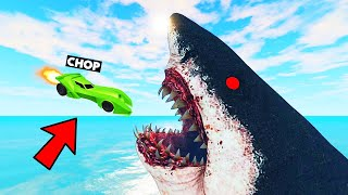 CHOP JUMPED INSIDE MONSTER MOUTH IN THIS RACE GTA 5