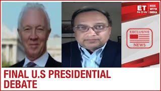 Donald Trump Vs Joe Biden - The Final Faceoff   Alastair Newton & Santosh Rao to ET NOW