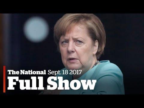 The National for Monday September 18th: Merkel