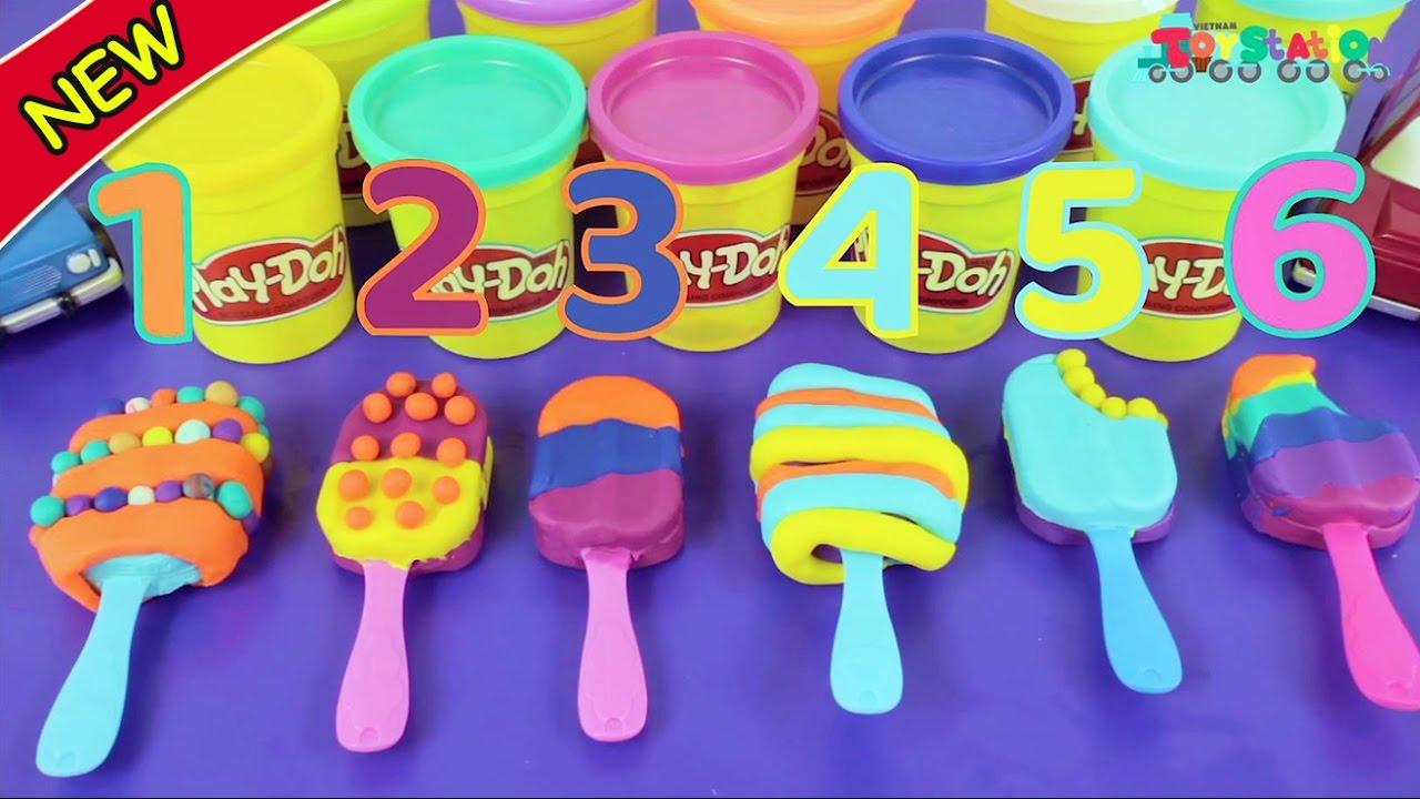 Tự làm kem bằng đất nặn Play Doh, tưởng dễ mà ai ngờ… – ToyStation 04