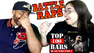 MY DAD REACTS TO TOP 100 BEST BATTLE RAPS BARS OF ALL TIME: PART 1 REACTION