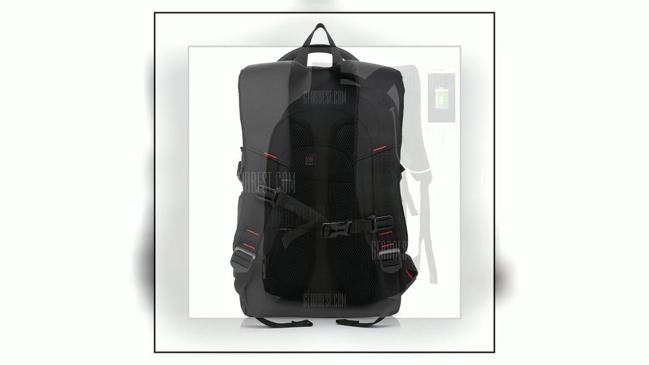 26b70ac66d AUGUR Men Backpacks 17INCH Laptop USB Waterproof Travel Bag Women Student  Back To School Bags For .