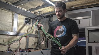 Removing 100+ POUNDS OF WIRE From our Ambulance | #VanLife