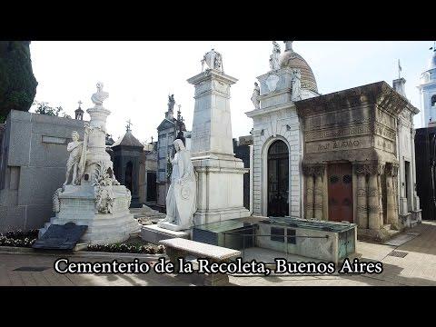 4K Buenos Aires - Recoleta Cemetery, Cementerio de la Recoleta, Argentina
