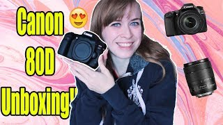 Canon EOS 80D With 18-135mm IS USM Lens Unboxing!