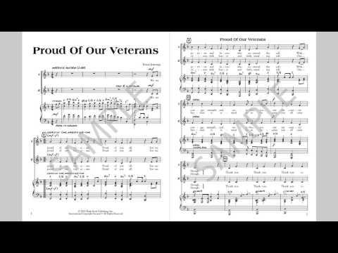 Proud Of Our Veterans - MusicK8.com Singles Reproducible Kit