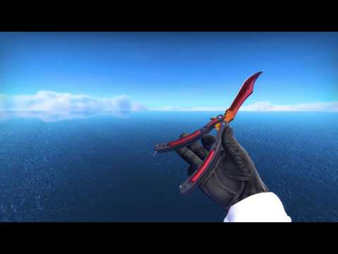 CSGO- Butterfly Knife Fade Factory New 100%