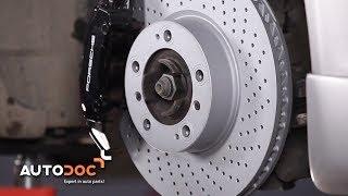 Montering Bromsbeläggsats fram och bak PORSCHE 911: videoinstruktioner