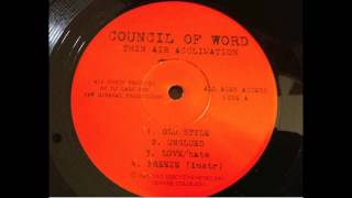 Council Of Word - Unglued (rare indie rap)