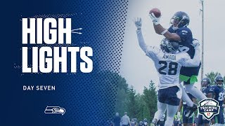 Seahawks 2019 Training Camp Day 7 Highlights