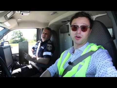 Daniel Otis takes the ambulance driver test
