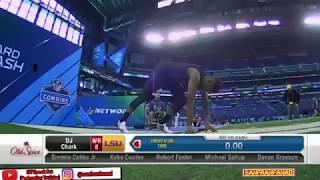 DJ Chark   2018 NFL Combine 40 Yard Dash - New FASTEST   NFL Highlights HD