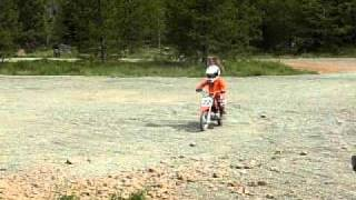 Download Video 5 year old Trevor crashes crf50 motorcycle MP3 3GP MP4