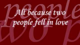 Brad Paisley - Two People Fell In Love with Lyrics