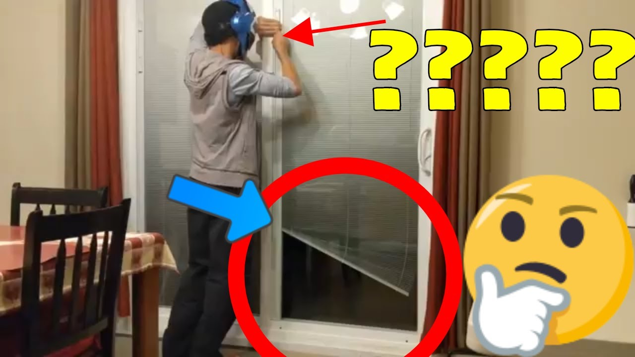 How To Fix Stuck Mini Blinds Inside A Door In Glass Mini Blinds