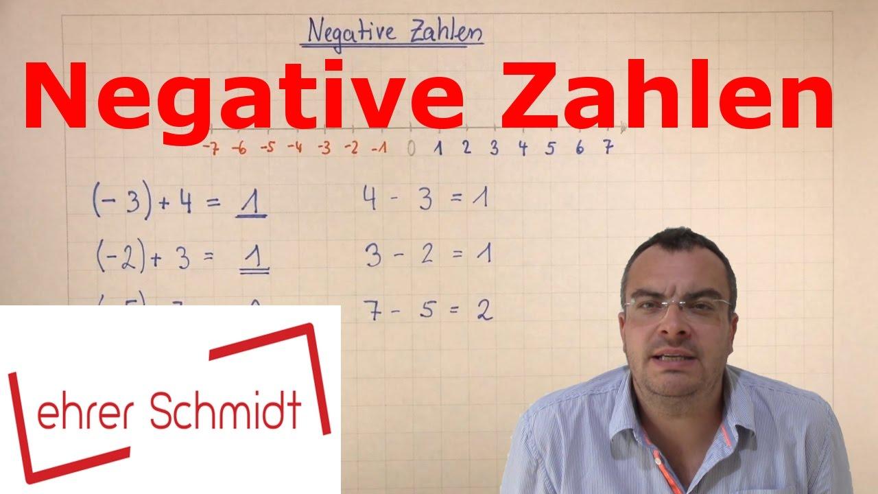 Negative Zahlen Einführung Mit Zahlenstrahl Mathematik Youtube