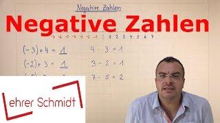 Negative Zahlen | Einführung mit Zahlenstrahl | Mathematik | Lehrerschmidt