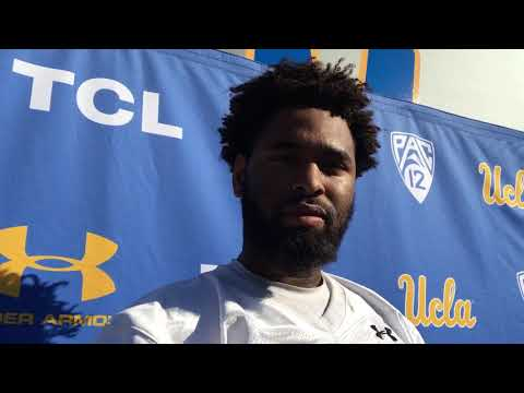 Moses Robinson-Carr after practice Oct. 25