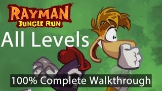 Rayman Jungle Run - All Levels 100% Complete Walkthrough w/ Bonus Secret Levels | WikiGameGuides