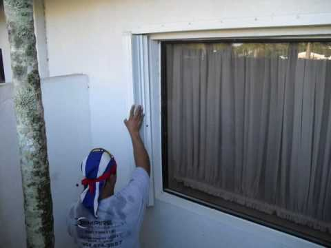 How To Install Accordion Hurricane Shutters Youtube