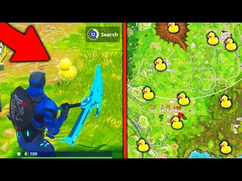 """Search Rubber Duckies"" All Locations Week 3 Challenges Rubber Duckies Locations Fortnite Season 4!"